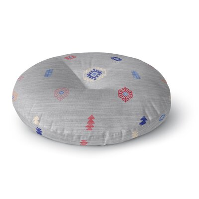 Floor Pillow Size: 26 H x 26 W, Color: Grey