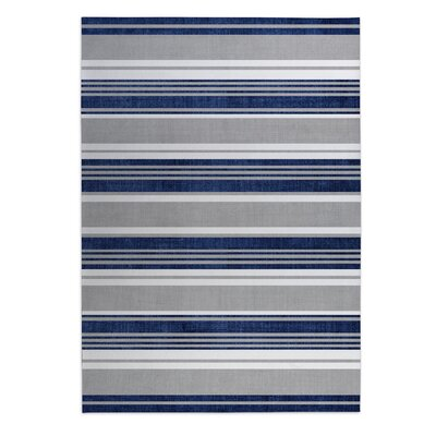 Sagamore Doormat Mat Size: Square 8, Color: Blue/ Grey