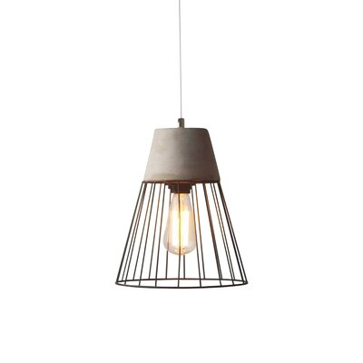 Burgess Caged 1-Light Mini Pendant Shade Color: Gray