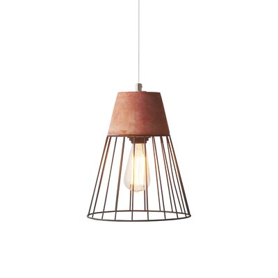 Burgess Caged 1-Light Mini Pendant Shade Color: Red