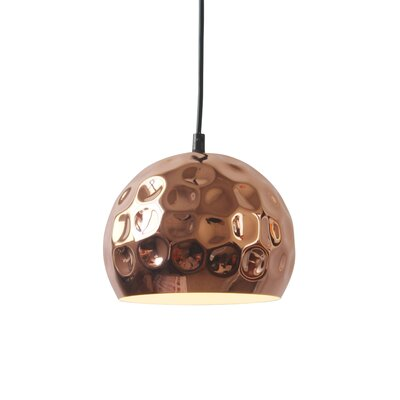 Capwell 1-Light Bowl Pendant