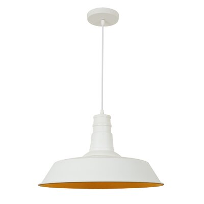 Stafford 1-Light Bowl Pendant Finish: Matte White