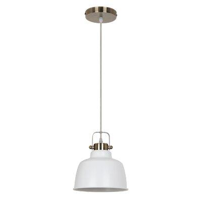 Mercer 1-Light Inverted Pendant Shade color: White