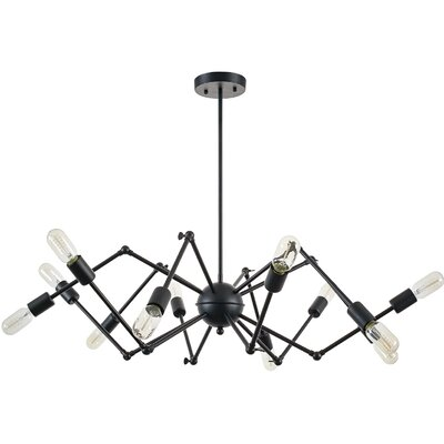 12-Light Sputnik Chandelier Finish: Black