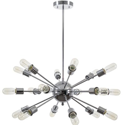 Defreitas 18-Light Sputnik Chandelier Finish: Chrome
