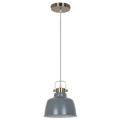 Mercer 1-Light Inverted Pendant Shade color: Gray