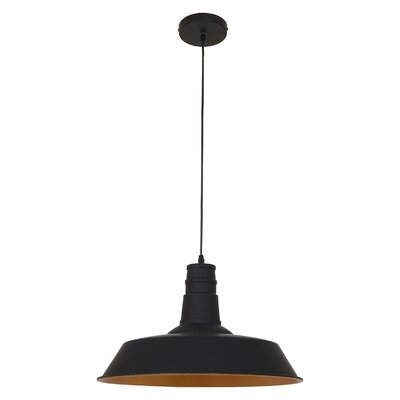 Stafford 1-Light Bowl Pendant Finish: Matte Black
