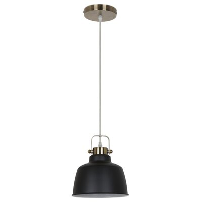 Mercer 1-Light LED Inverted Pendant Shade color: Black