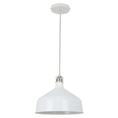 Banbury 1-Light Bowl Pendant Shade color: Matte White