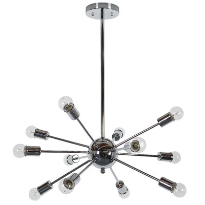 Vroman 12-Light Sputnik Chandelier Finish: Chrome