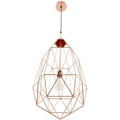 Diego 1-Light Foyer/Lantern Pendant Shade Color: Copper