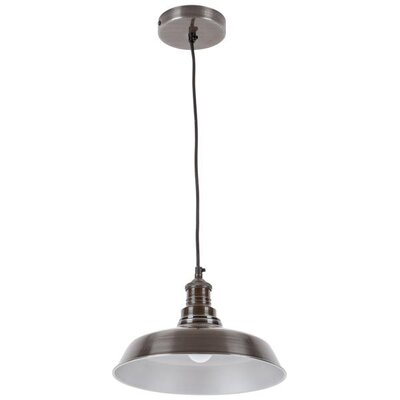 Athey 1-Light Inverted Pendant Shade Color: Black