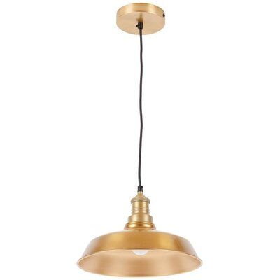 Athey 1-Light Inverted Pendant Shade Color: Brass