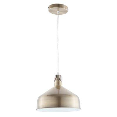 Banbury 1-Light Bowl Pendant Shade color: Satin Brass