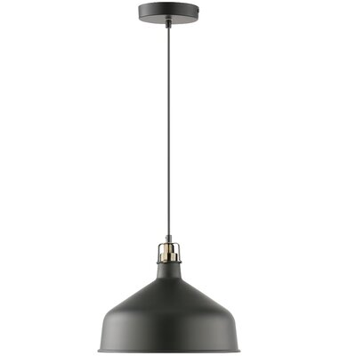 Banbury 1-Light Bowl Pendant Shade color: Black