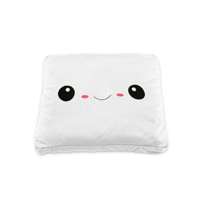 My Ku-Mo Square Throw Pillow Color: White