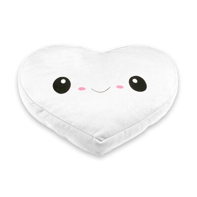My Ku-Mo Heart Throw Pillow Color: White
