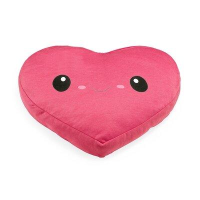 My Ku-Mo Heart Throw Pillow Color: Pink