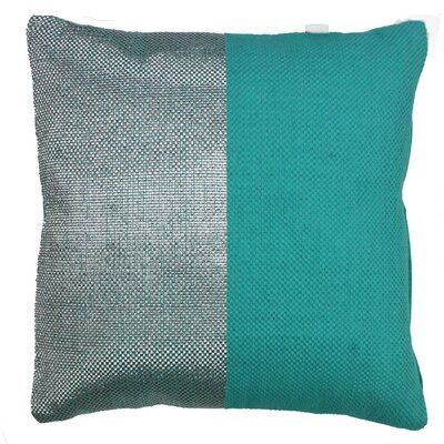 Two Tone Decorative Cotton Throw Pillow Color: Teal