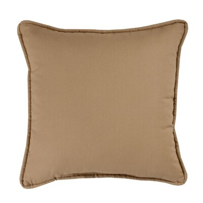 Brunswick Throw Pillow Color: Tan