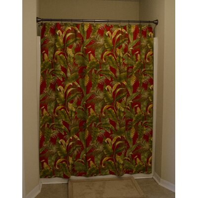Captiva Cotton Unlined Button Holes at Top Shower Curtain