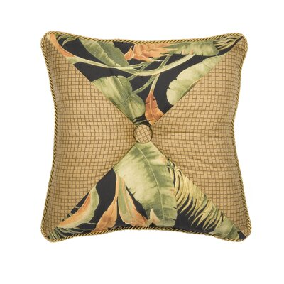 La Selva Black Square Throw pillow