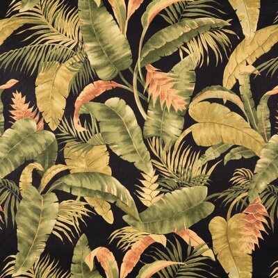 La Selva Black Main Print on Cotton Duck Fabric