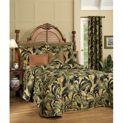 La Selva Black/Green Duvet Size: Queen