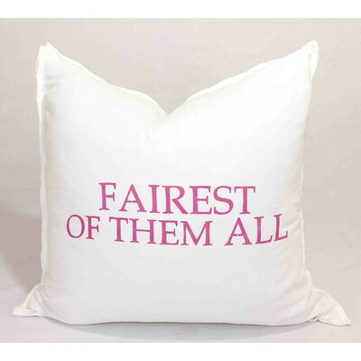 Fairest Of Them All Throw Pillow