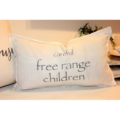 Careful Free Range Children Lumbar Pillow