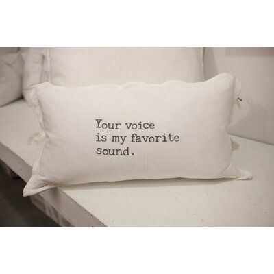 Your Voice Is My Favorite Sound Lumbar Pillow