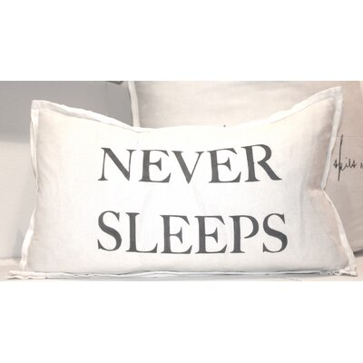 Never Sleeps Lumbar Pillow