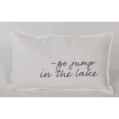 Go Jump In The Lake Lumbar Pillow