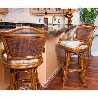 Serengeti 24 Swivel Bar Stool Seat Color: Escapade Sand
