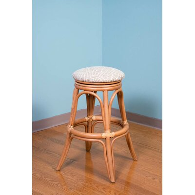 Universl Swivel Bar Stool Upholstery: Blue