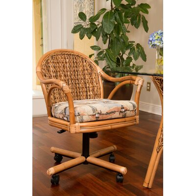 Panama Arm Chair Finish: Sienna/Palms Pineapple