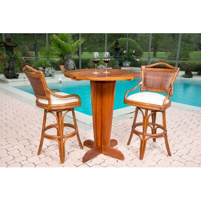 Serengeti 30 inch Swivel Bar Stool Seat Color: Palms Pineapple