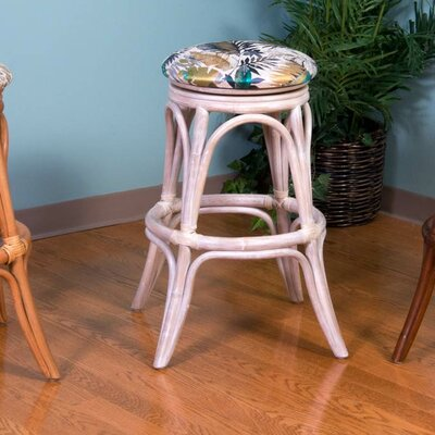 Universal 24 Swivel Bar Stool Finish: Rustic Driftwood, Seat Color: Kali Olive