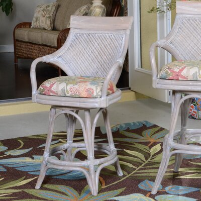 Bermuda 24 Swivel Bar Stool Seat Color: Escapade Sand