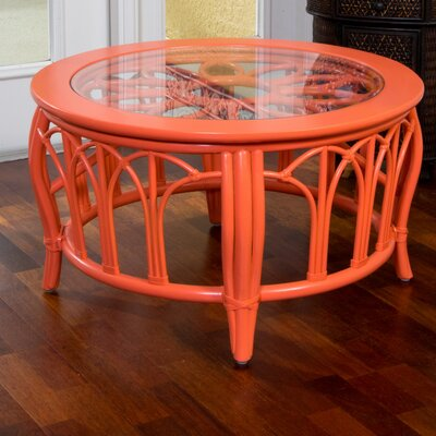 Cuba Round Coffee Table Finish: Coral