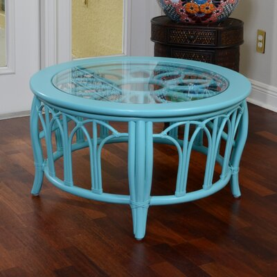 Cuba Round Coffee Table Finish: Aqua