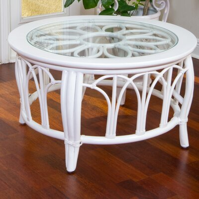 Cuba Round Coffee Table Finish: White