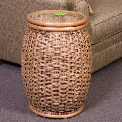 Kona End Table with Glass Color: Antique Honey