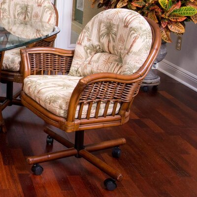 Bridgeport Arm Chair Finish: Sienna, Upholstery: Palms Pineapple