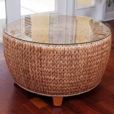Key Largo Coffee Table Base Color: Antique Honey