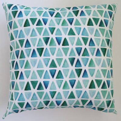 Watercolor Triangles Throw Pillow Size: 19.5 H x 19.5 W