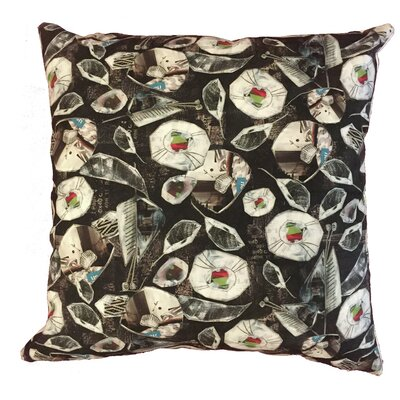 Collage of Flowers Throw Pillow Size: 19.5 H x 19.5 W