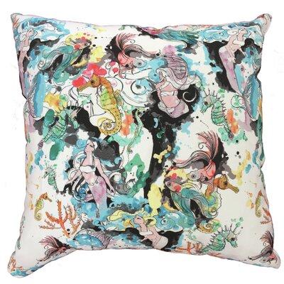 Mermaid Bliss Throw Pillow Size: 19.5 H x 19.5 W