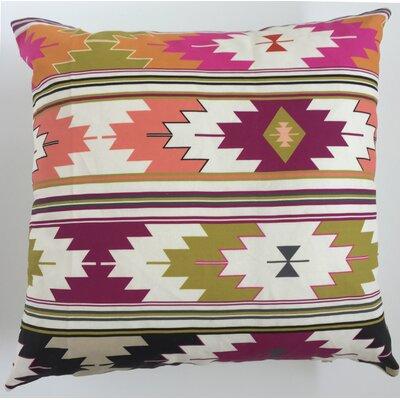 Sunflower Kilim Throw Pillow Size: 19.5 H x 19.5 W, Color: Orchid