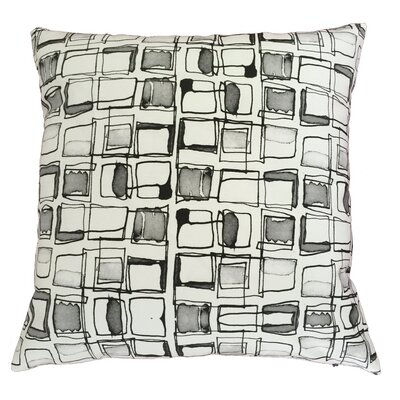 Retro Squares Throw Pillow Size: 17.5 H x 17.5 W